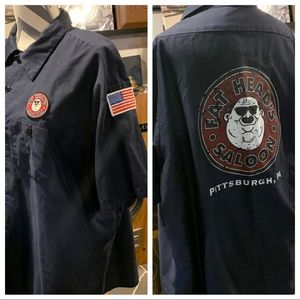 FAT HEADS SALOON BREWEY WORK SHIRT PITTSBURGH